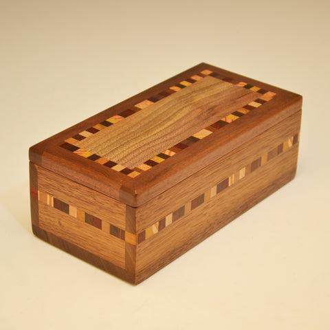 "Black Walnut ""Nichole"" Small Valet Box"