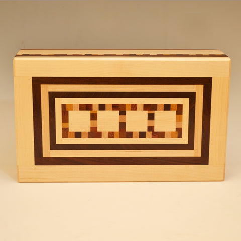"Large Maple & Black Walnut ""Mario"" Valet Box"