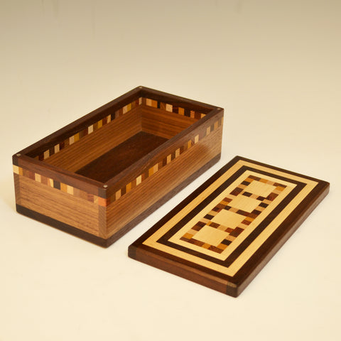 "Medium Black Walnut ""Mario"" Valet Box"