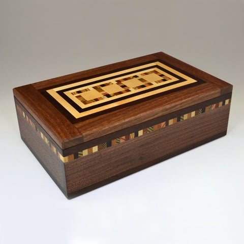 "Black Walnut ""Mario"" Large Valet Box"