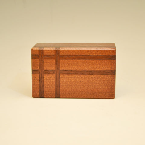 Mahogany & Modified Ash Asymmetric Keepsake Box
