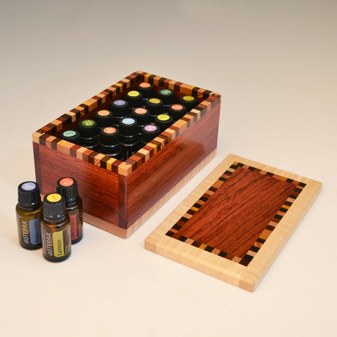 "Bubinga & Maple ""Patti"" Essential Oils Box"