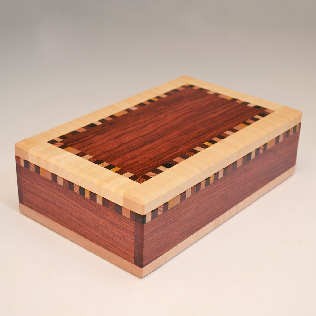 "Bubinga & Maple ""Patti"" Large Valet Box"