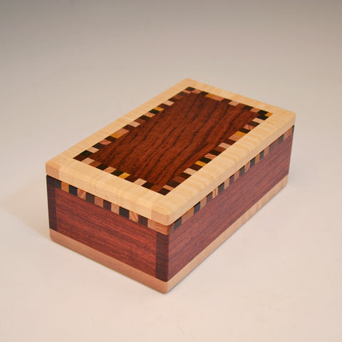 "Bubinga & Maple ""Patti"" Medium Valet Box"