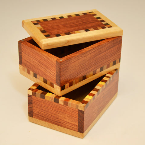 """Patti"" Bubinga Double Keepsake Box"