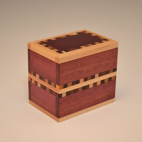 """Patti"" Purpleheart Double Keepsake Box"