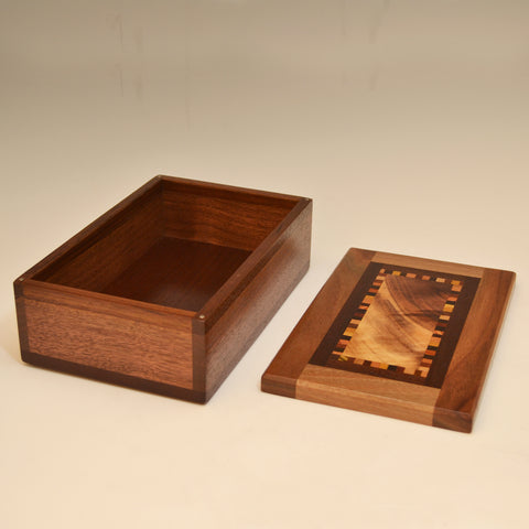 "Black Walnut ""Patti"" Medium Large Valet Box"