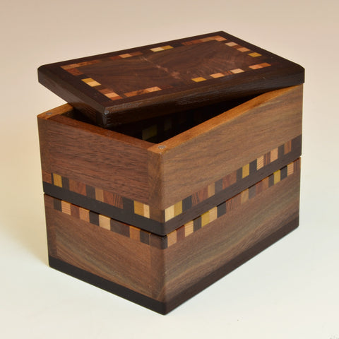 """Patti"" Black Walnut Double Keepsake Box"