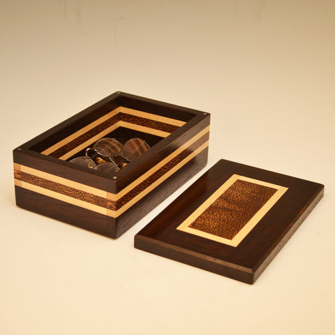 Wenge, Black Palm & Maple Medium Valet Box
