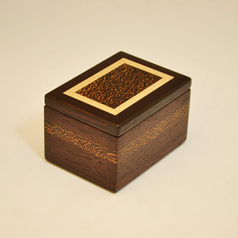 "Wenge, Black Palm & Maple ""Dennis"" Mini Keepsake Box"