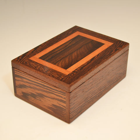 Wenge, Zircote & Mahogany Medium Large Valet Box