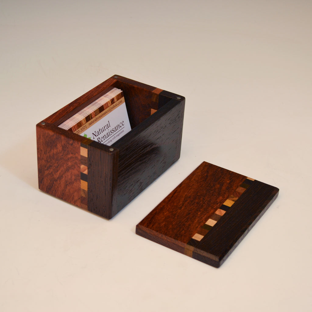 "Wenge & Bubinga ""Kyle"" Buisness Card Box"