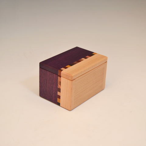 "Purpleheart & Maple ""Kyle"" Buisness Card Box"