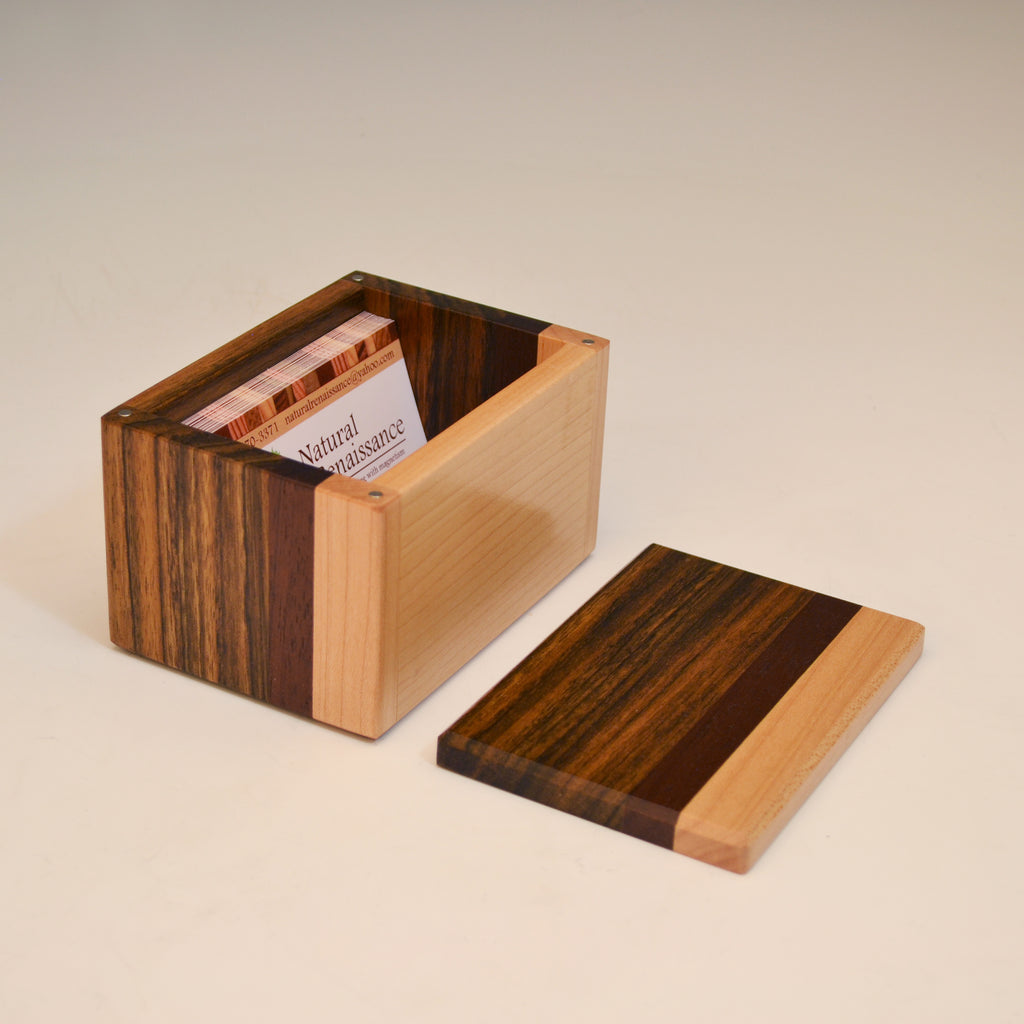 "Ovangkol & Maple ""Kyle"" Buisness Card Box"