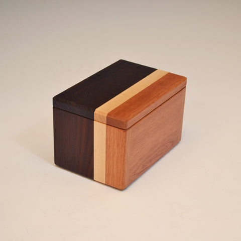 "Modified Ash & Mahogany ""Kyle"" Buisness Card Box"