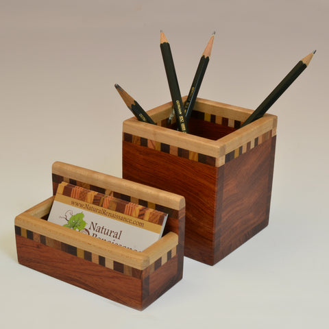 """Patti"" Bubinga Desk Set"