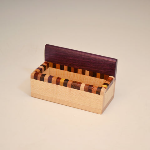 """Kyle"" Purpleheart & Maple Desk Set"