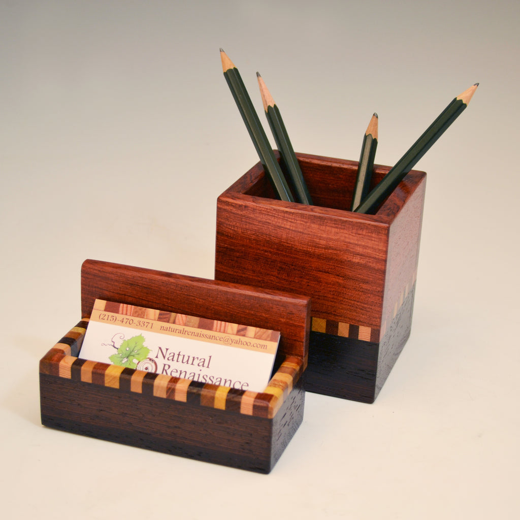 """Kyle"" Bubinga & Wenge Desk Set"