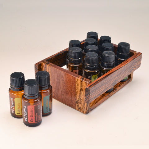 Bocote & Mahogany Essential Oil Crate (for 13 oils)