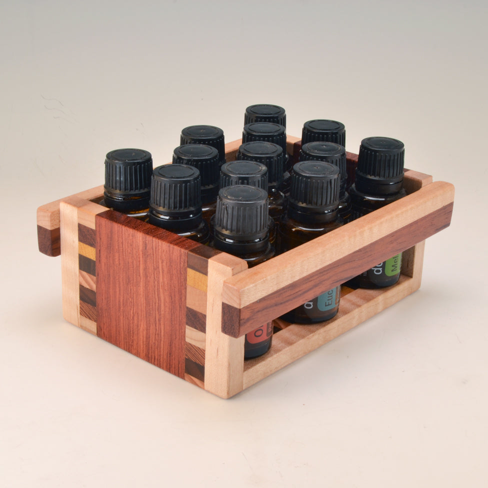 "Bubinga ""Patti"" Essential Oil Crate (for 13 oils)"