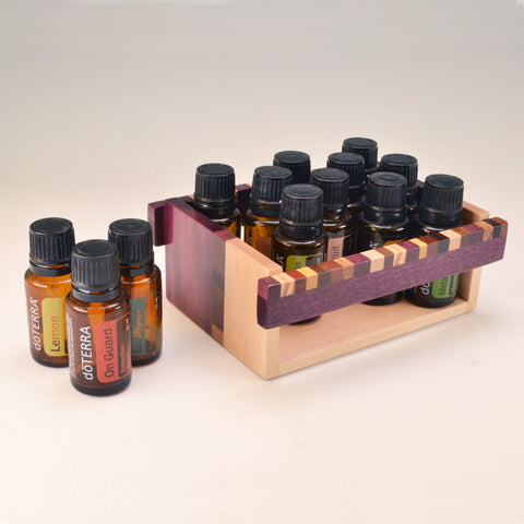 "Purpleheart & Maple ""Kyle"" Essential Oil Crate (for 13 oils)"