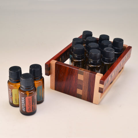 "Paduak ""Alice"" Essential Oil Crate (for 13 oils)"