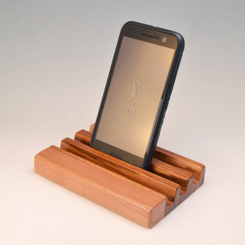 "Zebrawood & Beech ""Michael"" Docking Station"