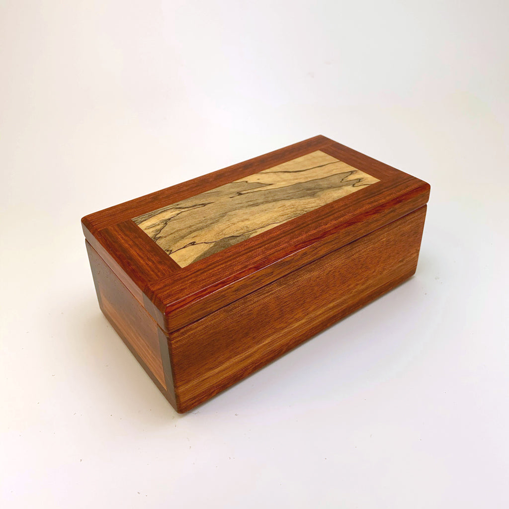 Bloodwood & Spalted Maple Eyeglass Box