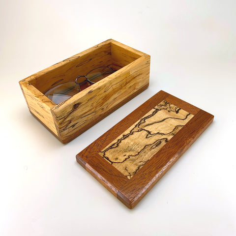 Spalted Maple & Mahogany Eyeglass Box