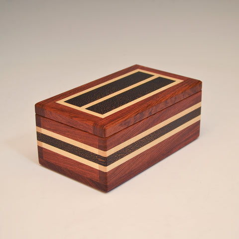 "Bubinga & Black Palm Double ""Dennis"" Eyegalss Box"