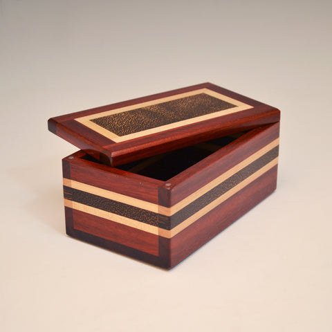 "Bloodwood & Black Palm ""Dennis"" Eyeglass Box"