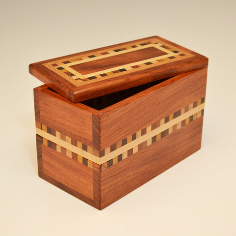 """Dana"" Bubinga Double Eyeglass Box"