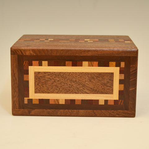 """Dana"" Black Walnut Double Eyeglass Box"
