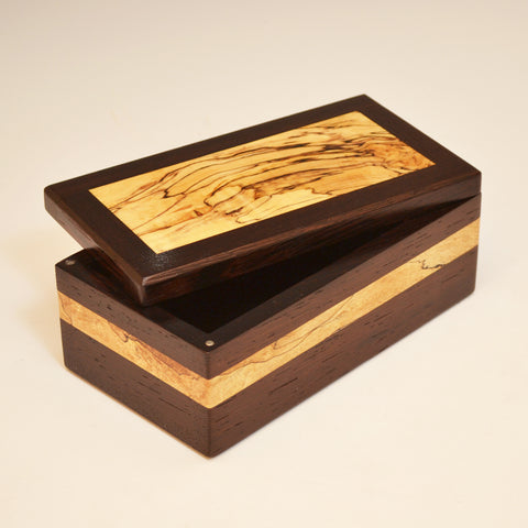 Wenge & Spalted Maple Eyeglass Box