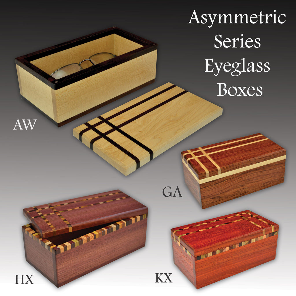 """Asymmetric"" (E435) Series Eyeglass Boxes"