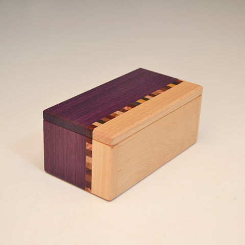"Purpleheart & Maple ""Kyle"" Eyeglass Box"