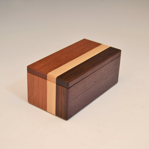 "Mahogany & Modified Ash ""Kyle"" Eyeglass Box"