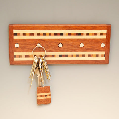 "Mahogany & Maple ""Xander"" Series Key Chain Holder"