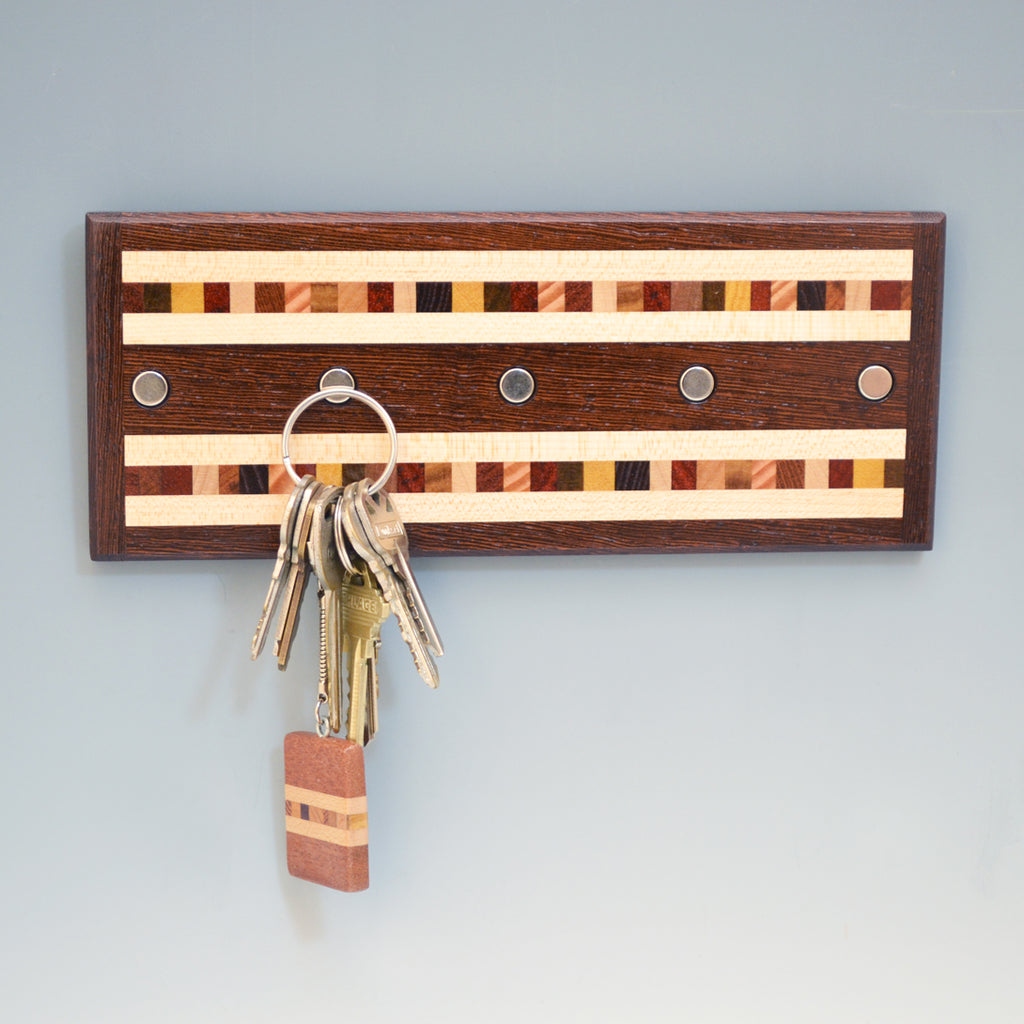 "Wenge & Maple ""Xander"" Series Key Chain Holder"