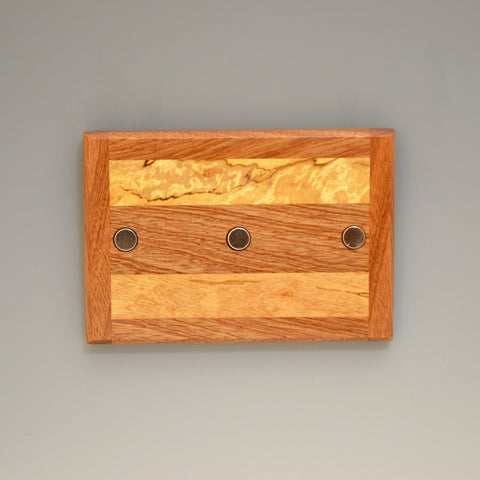 "Mahogany & Spalted Maple ""Michael"" (KR105 & 115) Series Key Chain Holder"