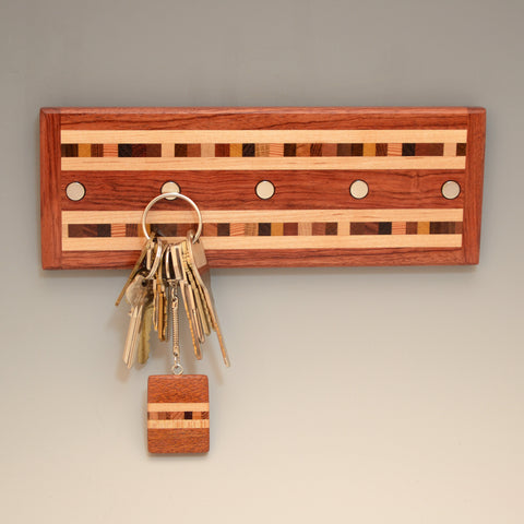 "Bubinga ""Xander"" Series Key Chain Holder"