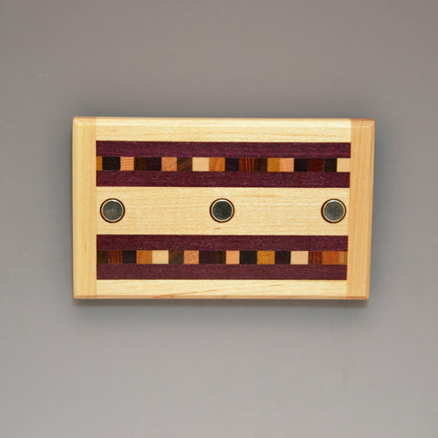 "Hard Maple & Purpleheart ""Xander"" Series Key Chain Holder"