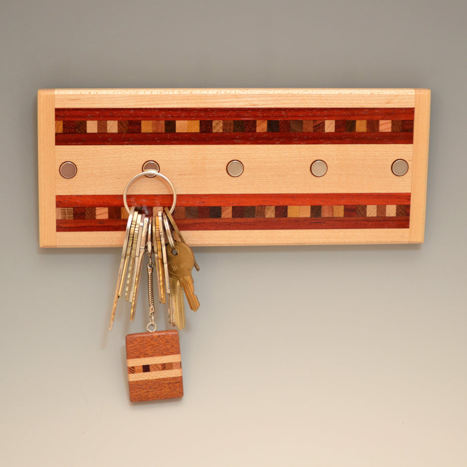 "Hard Maple & Paduak ""Xander"" Series Key Chain Holder"