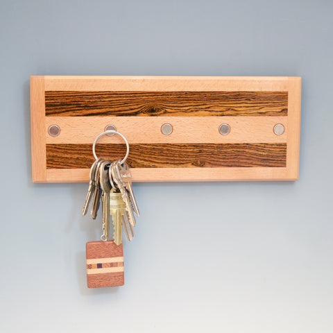 "Beech & Bocote ""Xander"" Series Key Chain Holder"