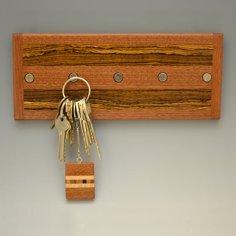 "Mahogany & Bocote ""Michael"" (KR105 & 115) Series Key Chain Holder"