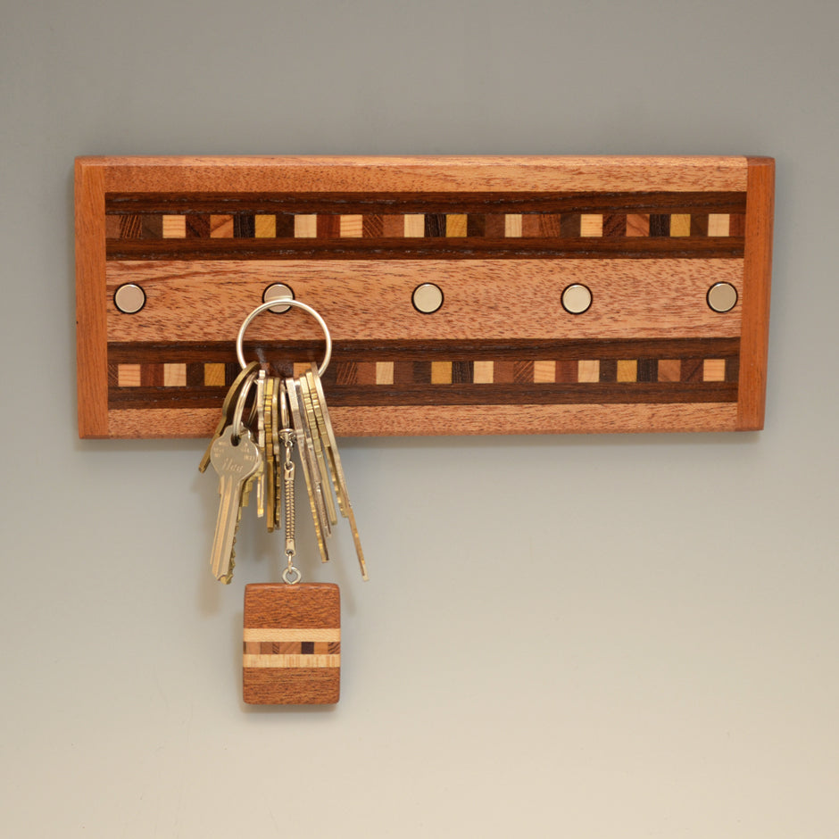 "Mahogany & Modified Ash ""Xander"" Series Key Chain Holder"