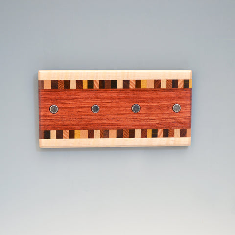 "Bubinga & Maple ""Patti"" (KR127) Series Key Chain Holder"