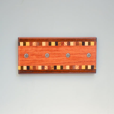 "Bubinga & Walnut ""Patti"" (KR127) Series Key Chain Holder"