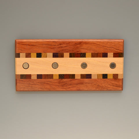 "Bubinga & Sycamore ""Susan"" (KR451) Series Key Chain Holder"
