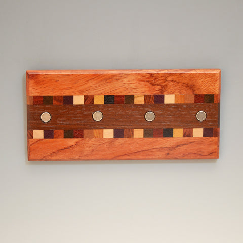 "Bubinga & Black Walnut ""Susan"" (KR451) Series Key Chain Holder"
